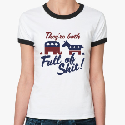 Женская футболка Ringer-T Full of shit