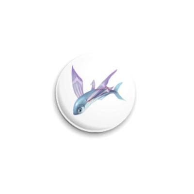 Значок 25мм Рыбка