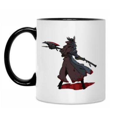 Кружка Bloodborne - охотник и монстр