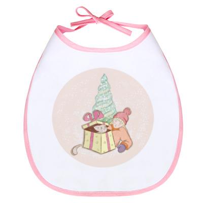 Слюнявчик Новогодние подарки