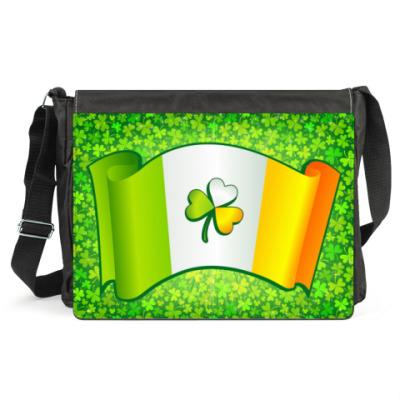 Сумка Ирландский флаг в клеверах