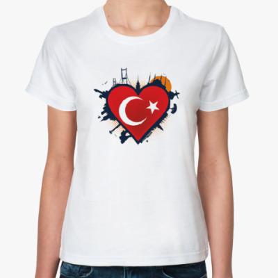 Классическая футболка Сердце ислам
