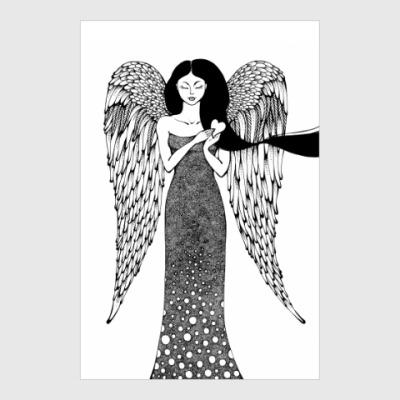 Постер Рождественский ангел