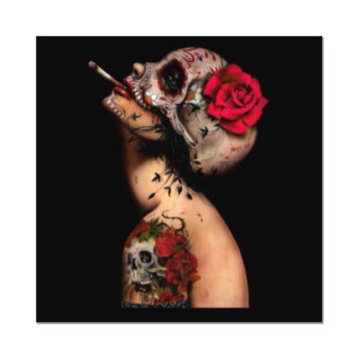Наклейка (стикер) Sugar skull girl