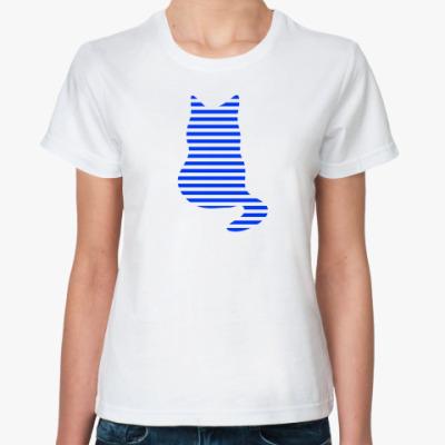 Классическая футболка Кот полосатый