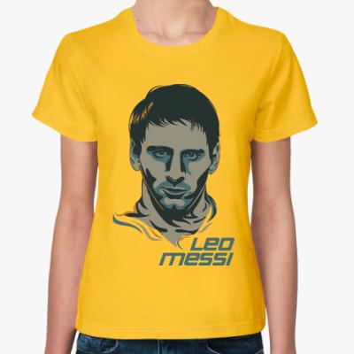 Женская футболка Leo Messi