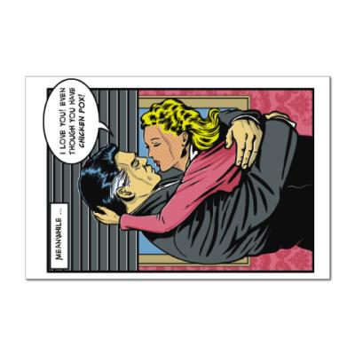 Наклейка (стикер) Страница из ретро комикса