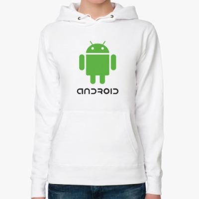Женская толстовка худи Андроид