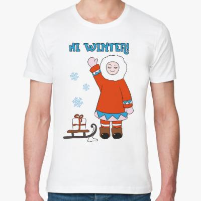 Футболка из органик-хлопка Hi Winter: зима, которая всегда с тобой