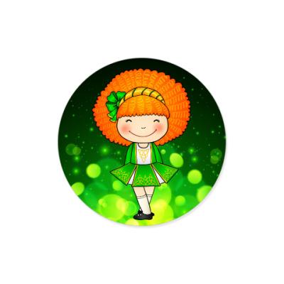 Виниловые наклейки Ирландская девочка