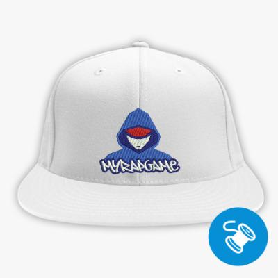 Кепка / бейсболка snapback (вышивка), белая Кепка / бейсболка snapback (вышивка), белая