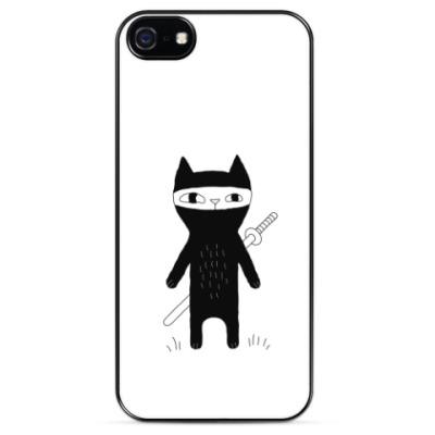 Чехол для iPhone Кот-ниндзя