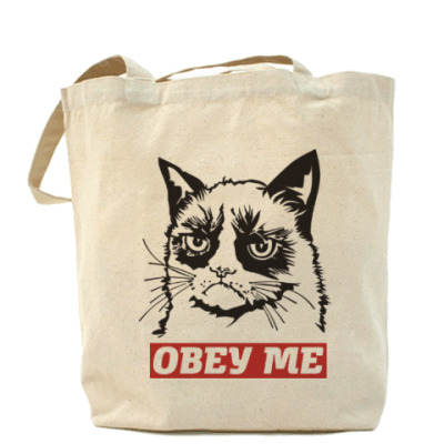 Сумка Obey the kitty.