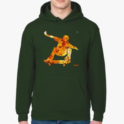 Толстовка худи Осенний скейтер