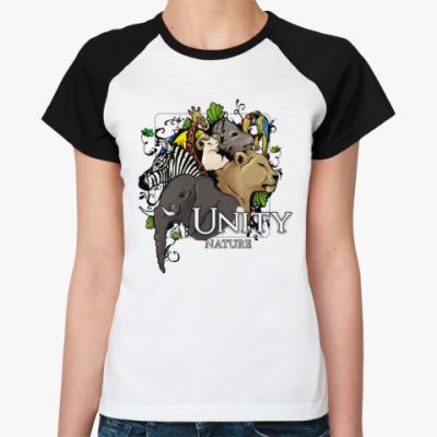 Женская футболка реглан  Unity nature