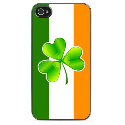 Чехол для iPhone Клевер и ирландский флаг