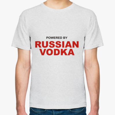 Футболка Pewered by Russian vodka