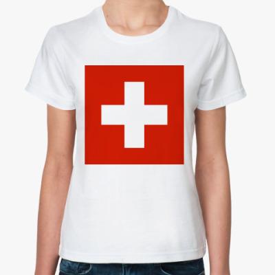 Классическая футболка  Швейцария