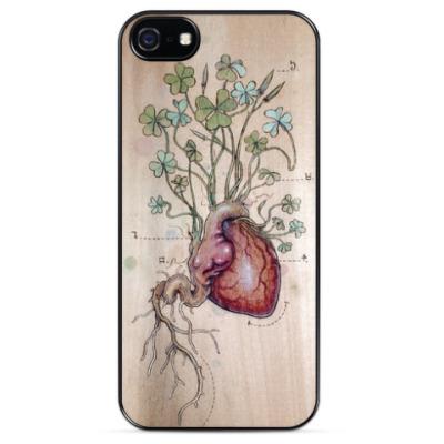 Чехол для iPhone Сердце клевера