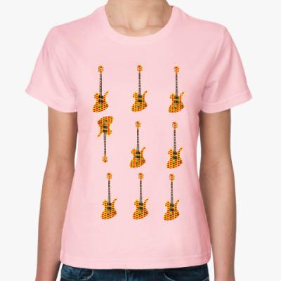 Женская футболка Hide гитары