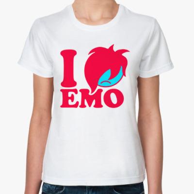 Классическая футболка Люблю Эмо