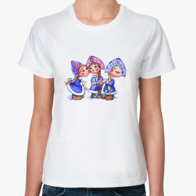 Классическая футболка снегурочки