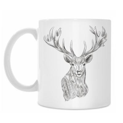 Кружка Олень лось deer
