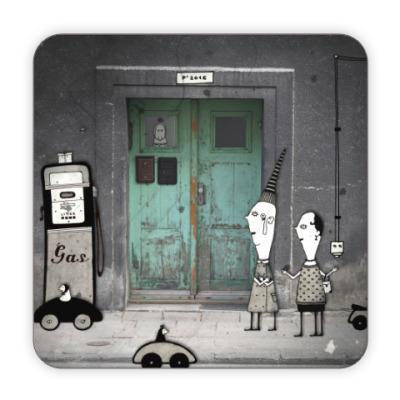 Костер (подставка под кружку) Green door
