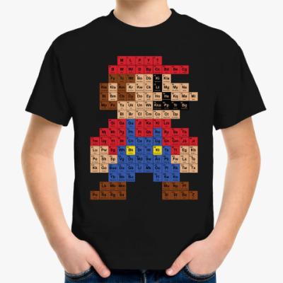 Детская футболка Таблица Марио