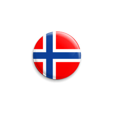 Значок 25мм  Норвегия