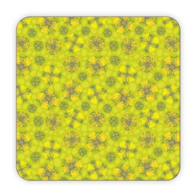 Костер (подставка под кружку) цветы
