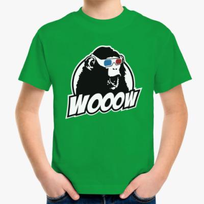 Детская футболка Обезьяна - ух ты!