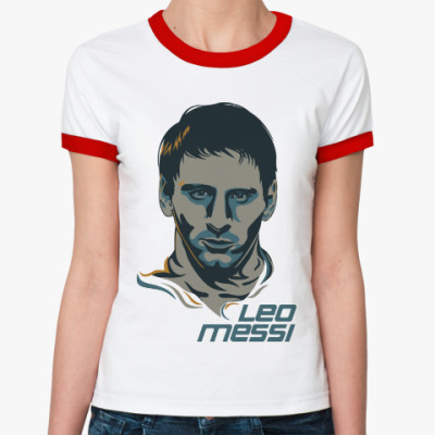 Женская футболка Ringer-T Leo Messi