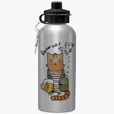 Спортивная бутылка/фляжка Кот из советского ретро фильма