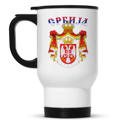 Кружка-термос Большой герб Сербии
