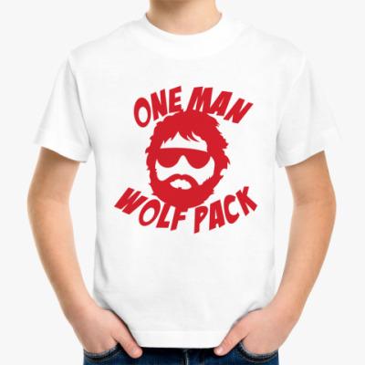 Детская футболка  Человек-волчья стая
