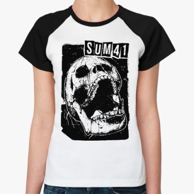 Женская футболка реглан Sum 41