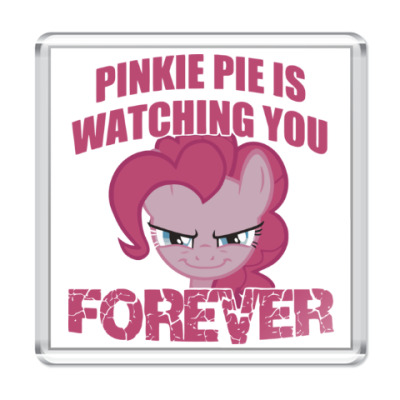 Магнит Пинки Пай наблюдает за тобой