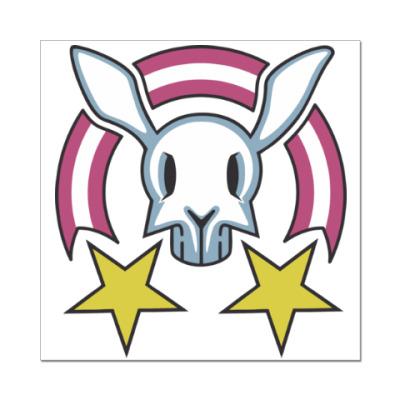Наклейка (стикер) Звездный заяц