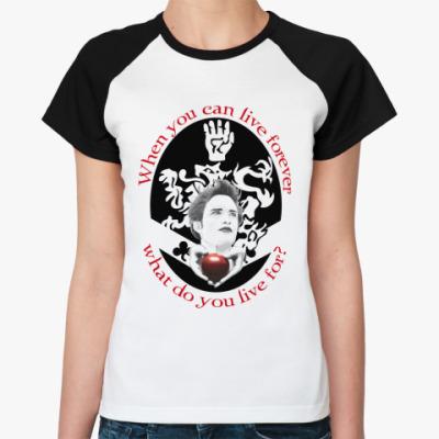 Женская футболка реглан Cullen   Ж(бел/чёрн)