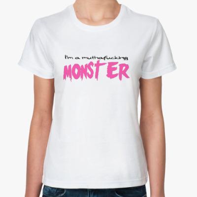 Классическая футболка  Monster