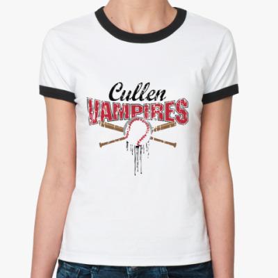Женская футболка Ringer-T Cullen vampires