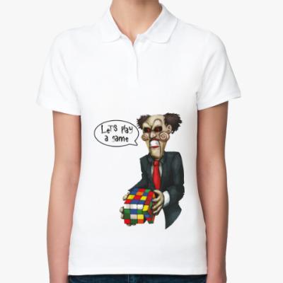 Женская рубашка поло Пила (Saw) и Кубик Рубика