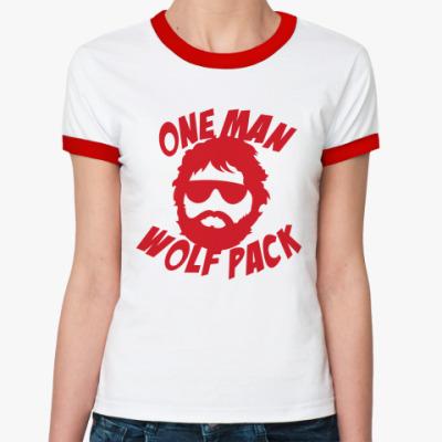 Женская футболка Ringer-T  Человек-волчья стая