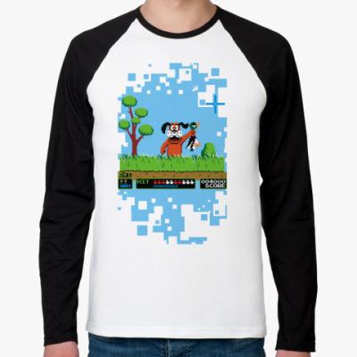 Футболка реглан с длинным рукавом Pixel Duck Hanter