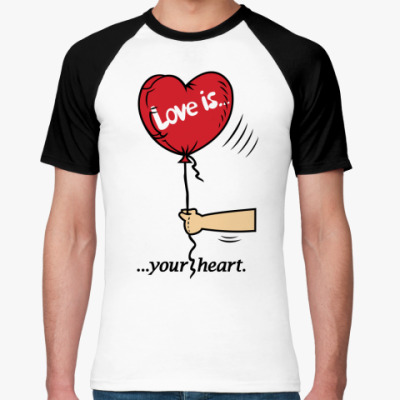 Футболка реглан Love is...