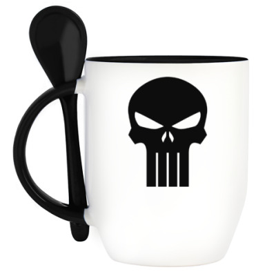 Кружка с ложкой Punisher