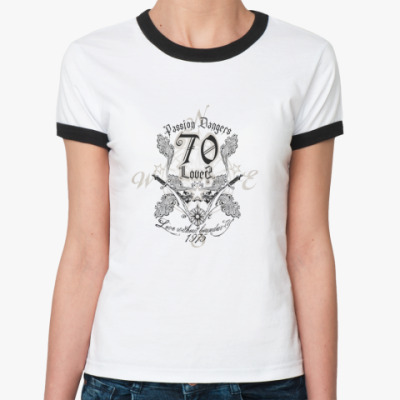 Женская футболка Ringer-T Passion