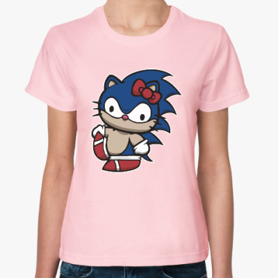 Женская футболка Kitty Sonic