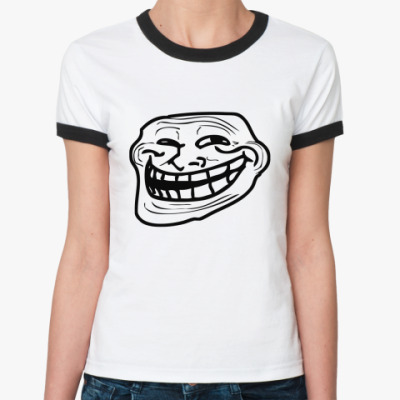 Женская футболка Ringer-T  трололо